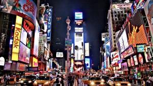 Frizzenti in Times Square NYC