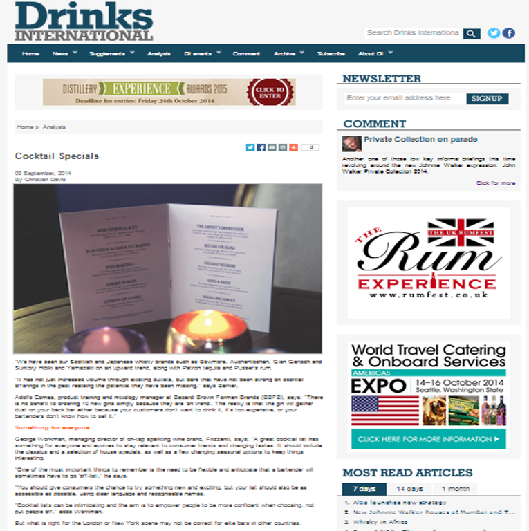 Drinks International_Cocktail Feature